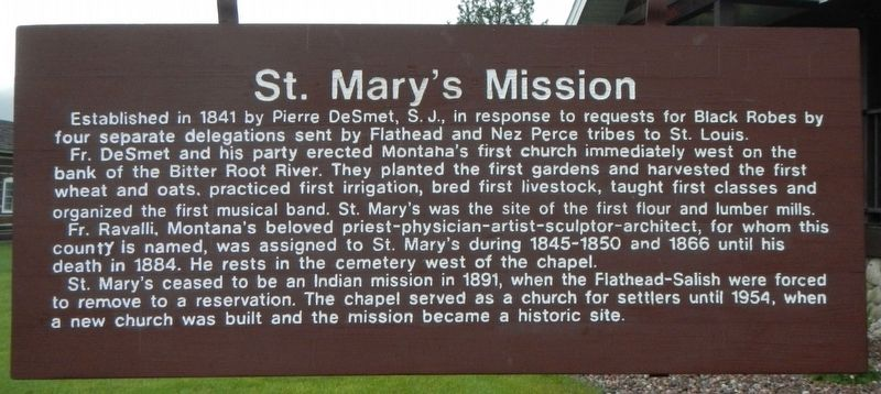 Saint Mary's Mission Marker image. Click for full size.