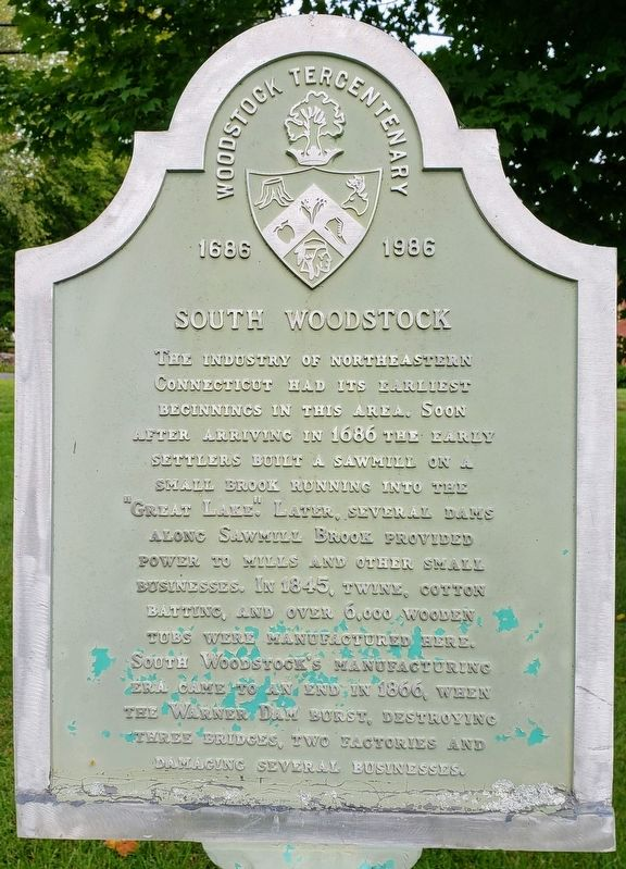 South Woodstock Marker Front image. Click for full size.