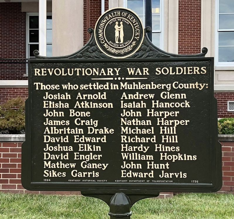 Revolutionary War Soldiers Marker image. Click for full size.