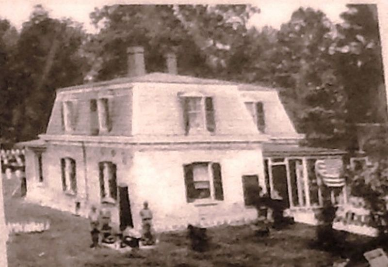 Marker detail: Lodge at City Point, Va., pre-1928 image. Click for full size.