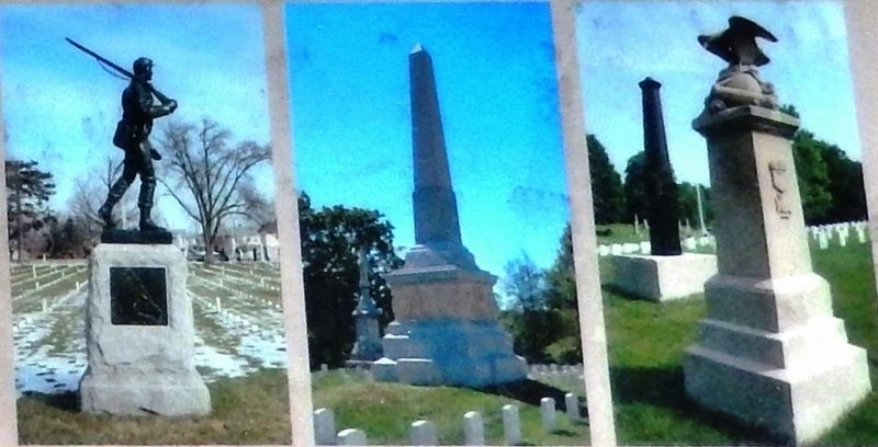Marker detail: National Cemetery Monuments image. Click for full size.