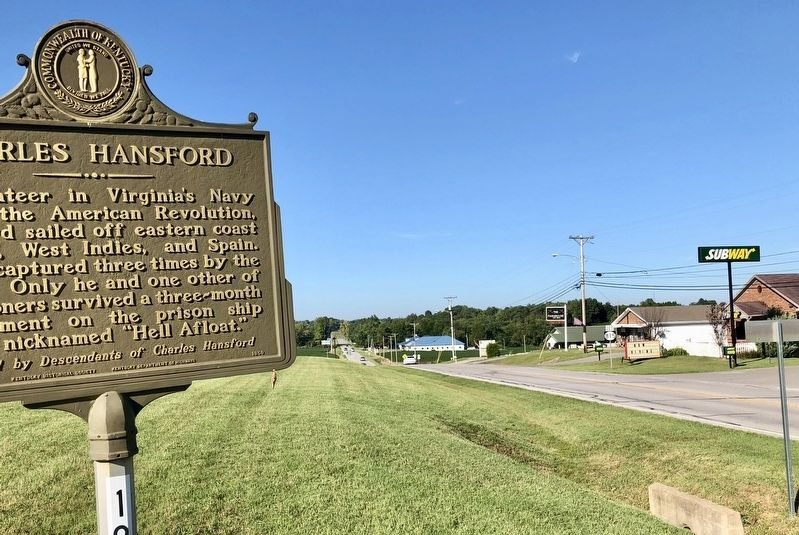 View from marker looking north on Kentucky Highway 81. image. Click for full size.