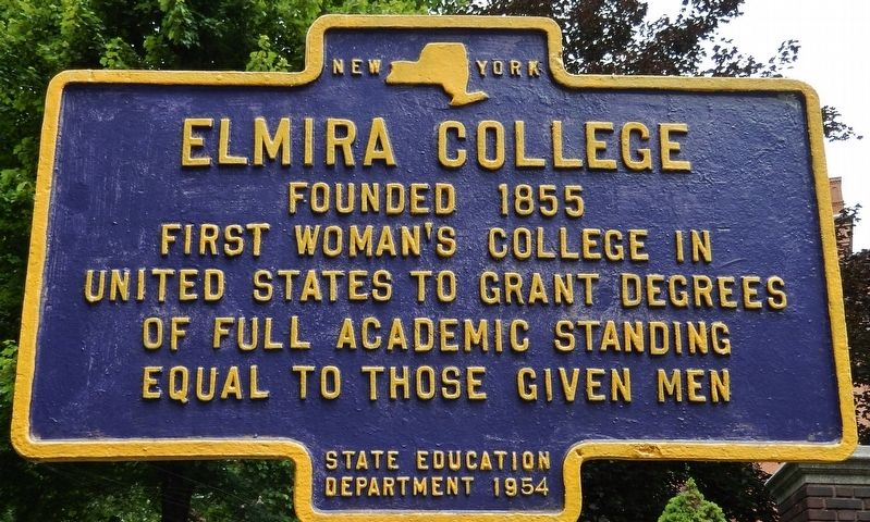 Elmira College Marker image. Click for full size.