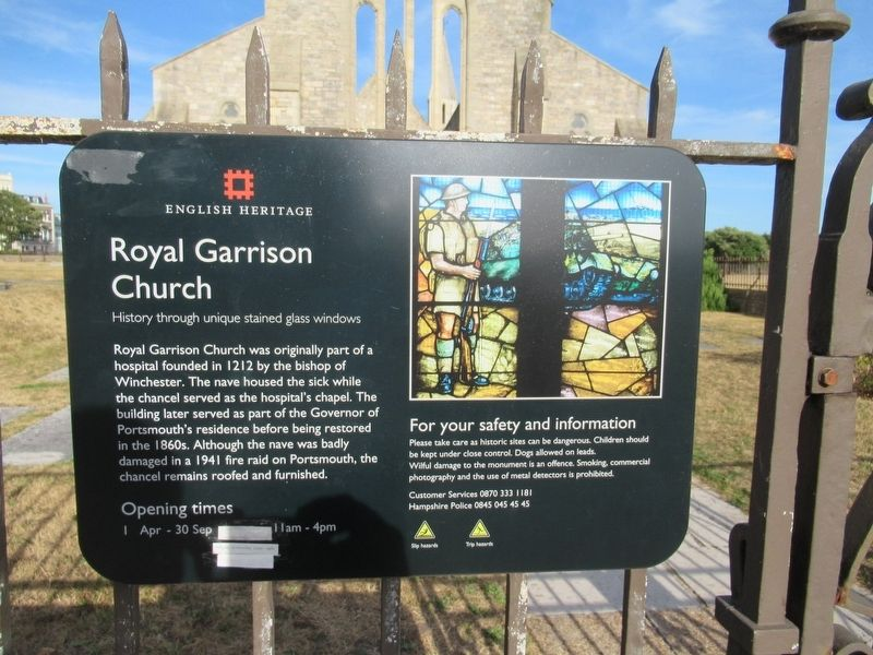 Royal Garrison Church Marker image. Click for full size.