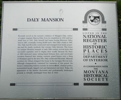 Daly Mansion Marker image. Click for full size.