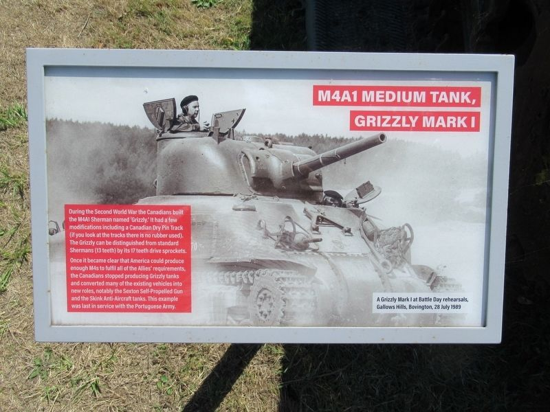 M4A1 Medium Tank Grizzly Marker image. Click for full size.