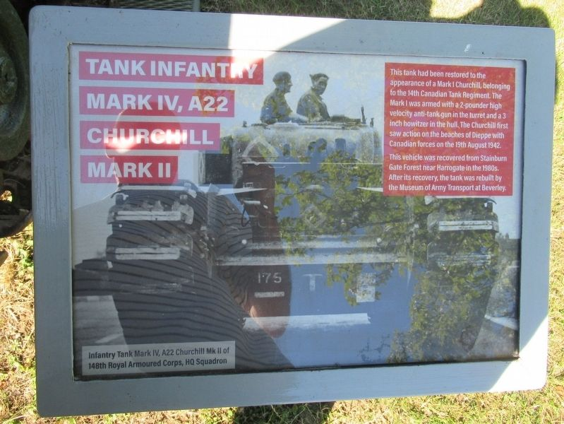 Tank Infantry Mark IV Marker image. Click for full size.