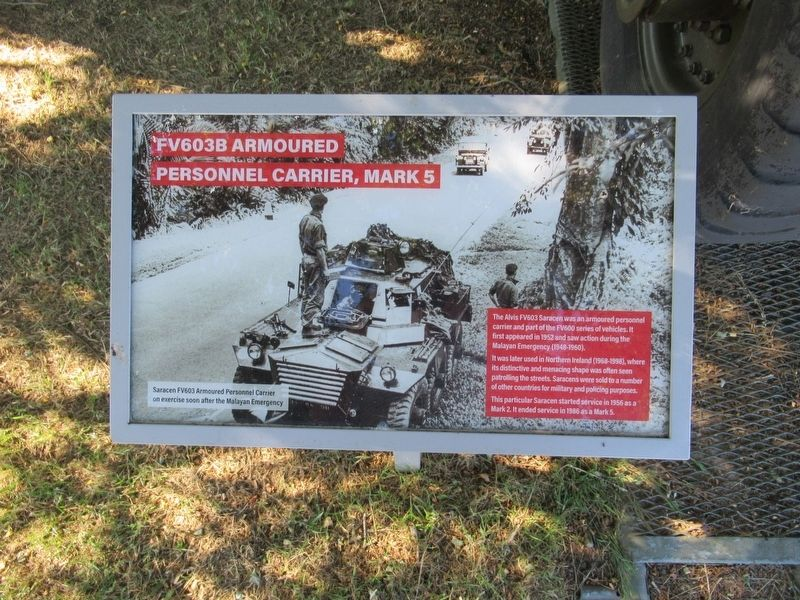 FV603B Armoured Personnel Carrier Marker image. Click for full size.