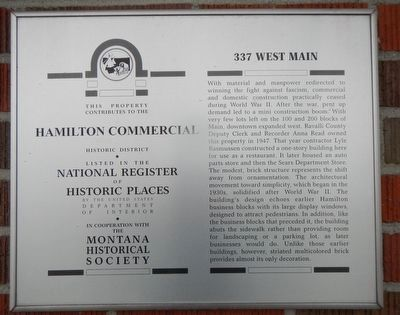 337 West Main Marker image. Click for full size.