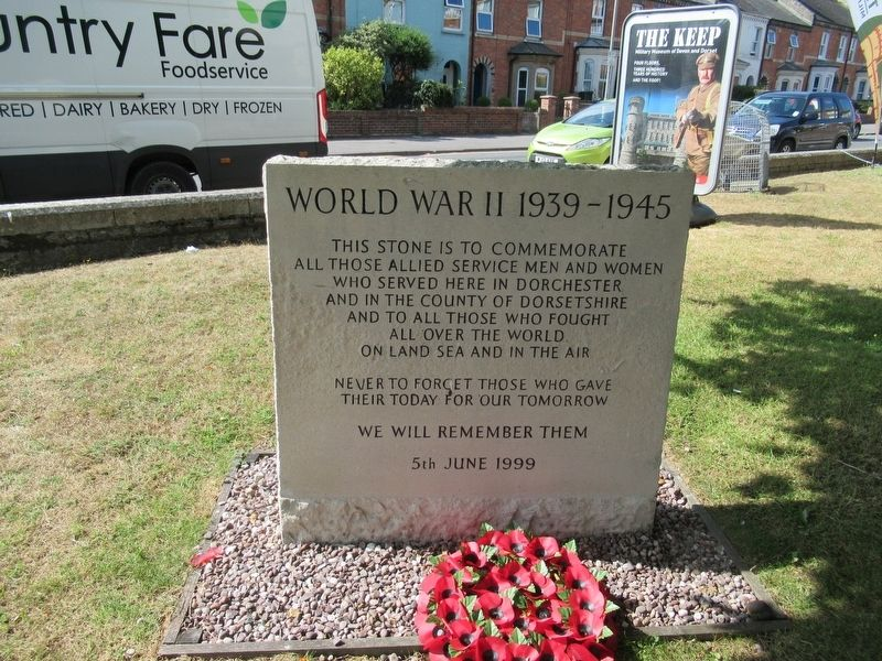 Dorchester World War II Monument image. Click for full size.