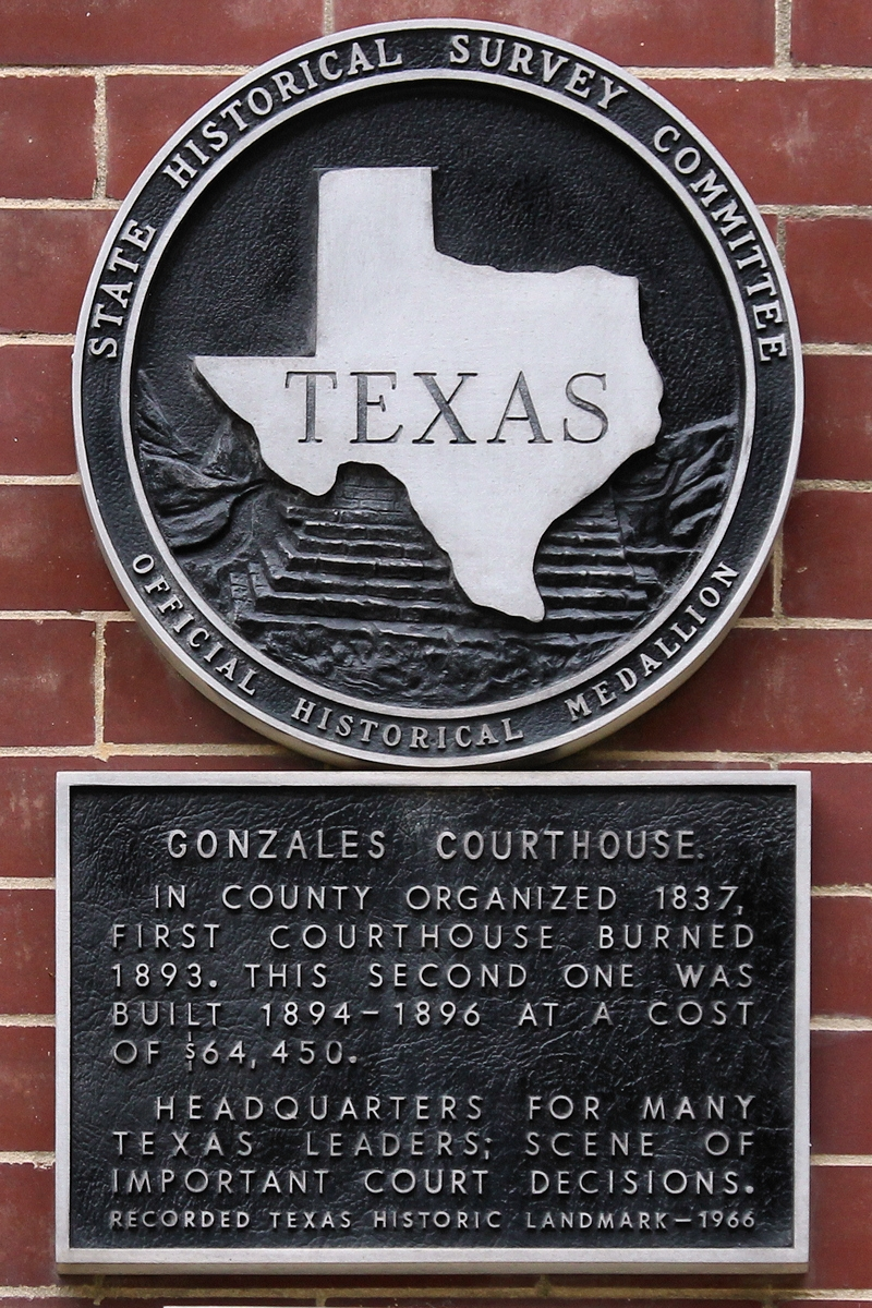 Gonzales Courthouse Marker