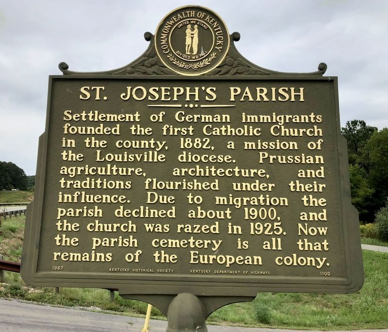 St. Joseph's Parish Marker image. Click for full size.