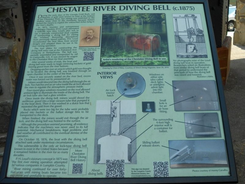 Chestatee River Diving Bell Marker image. Click for full size.