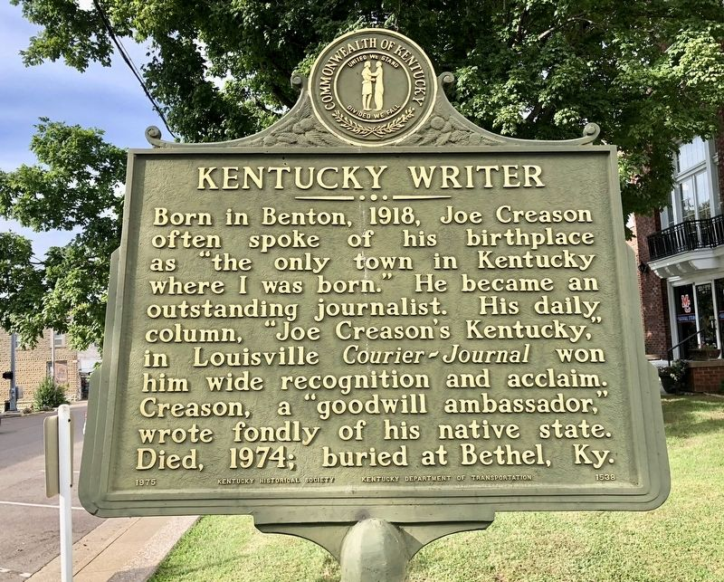 Kentucky Writer Marker image. Click for full size.