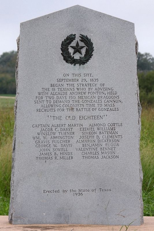 The Old Eighteen Marker image. Click for full size.