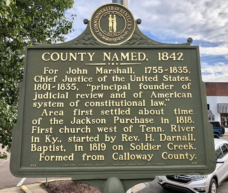 County Named, 1842 Marker image. Click for full size.