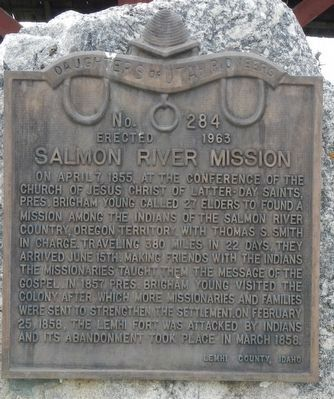 Salmon River Mission Marker image. Click for full size.