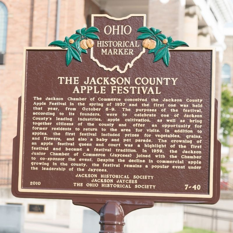The Jackson County Apple Festival face of marker image. Click for full size.