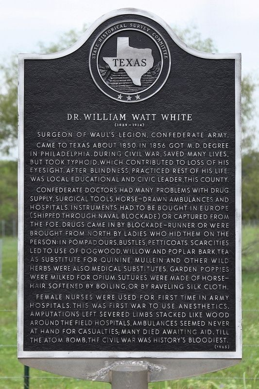 Dr. William Watt White Marker image. Click for full size.