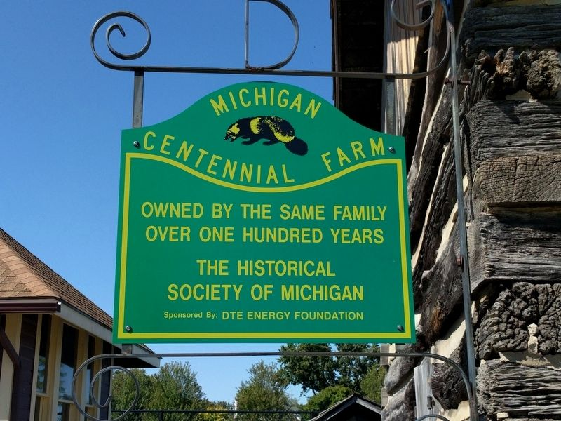 Michigan Centennial Farm Sign image. Click for full size.