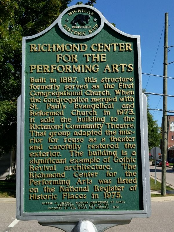 Richmond Center for the Performing Arts Marker image. Click for full size.