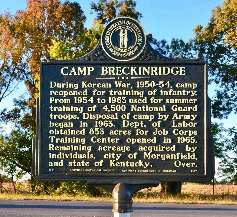 Camp Breckinridge Historical Marker