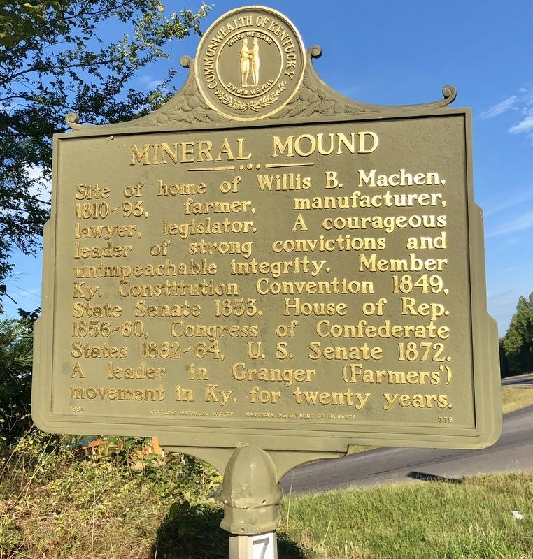 Mineral Mound Marker image. Click for full size.
