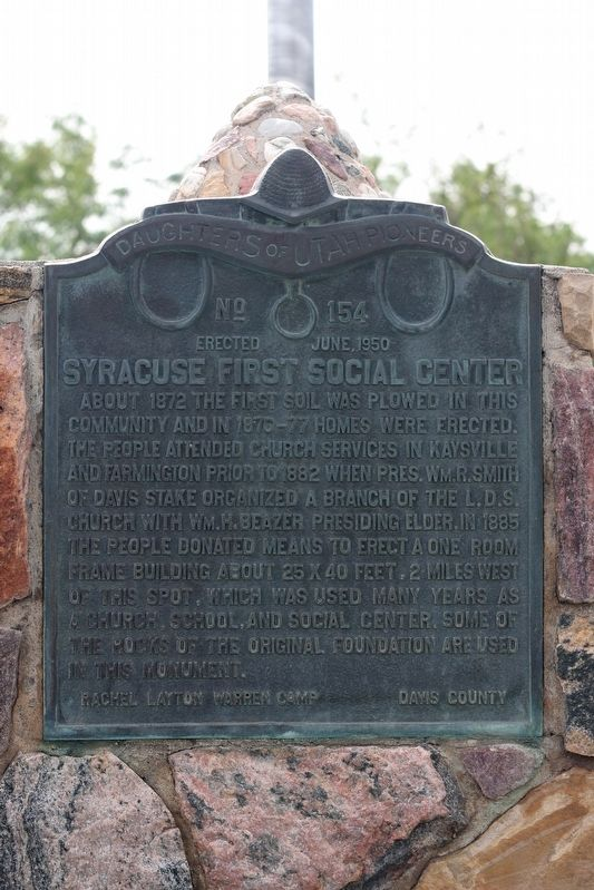 Syracuse First Social Center Marker image. Click for full size.