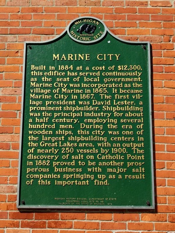 Marine City Marker image. Click for full size.