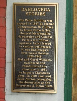 Dahlonega Stories Price Building Marker image. Click for full size.