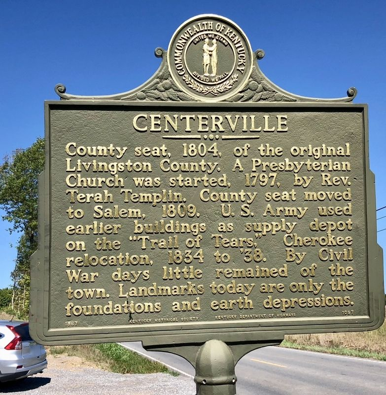 Centerville Marker image. Click for full size.