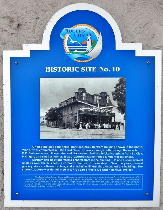 Site of Bertram Building Marker image. Click for full size.