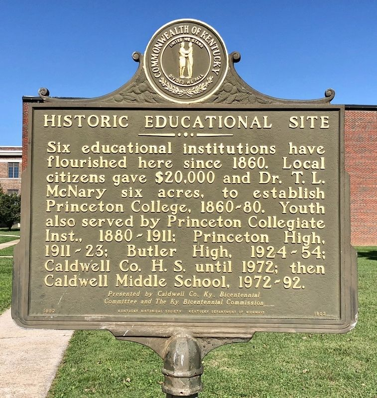 Historic Educational Site Marker image. Click for full size.