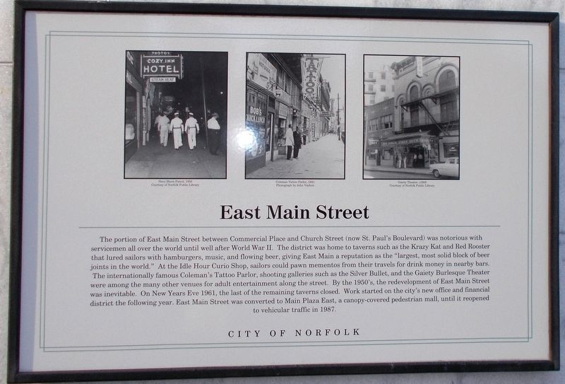 East Main Street Marker image. Click for full size.