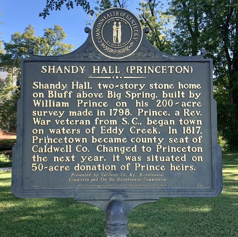 Shandy Hall (Princeton) Marker image. Click for full size.