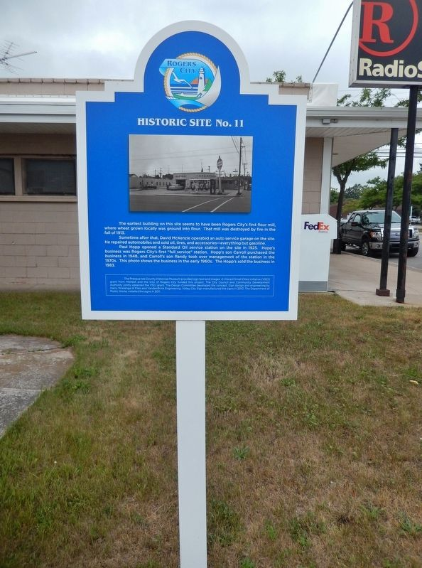 Site of Rogers City&#39;s First Flour Mill Marker (<i>tall view</i>) image. Click for full size.