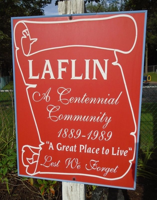 Laflin Community Sign Near War Memorial image. Click for full size.