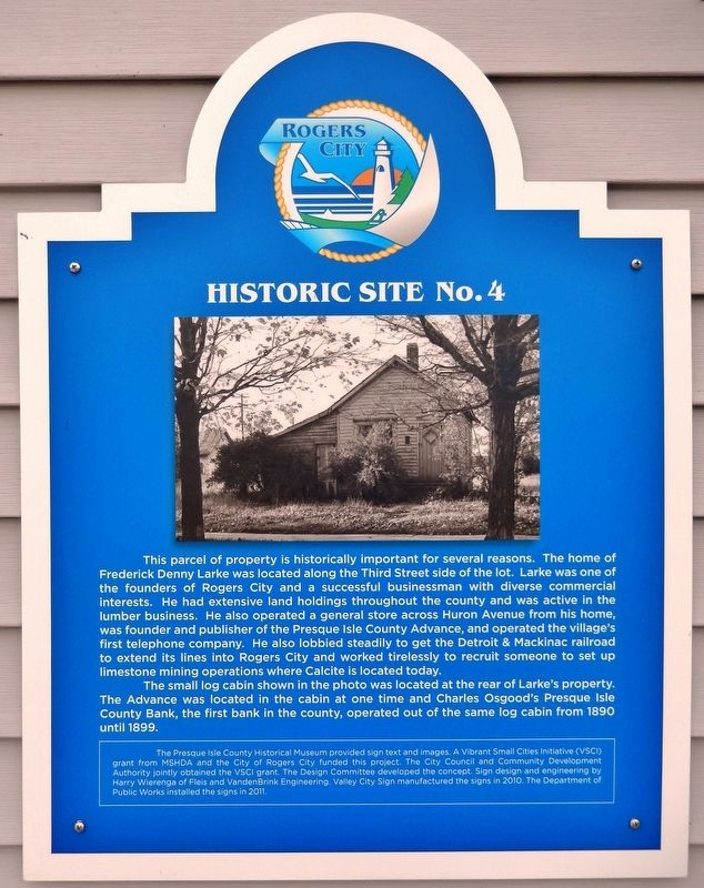 Site of Frederick Denny Larke Home Marker image. Click for full size.
