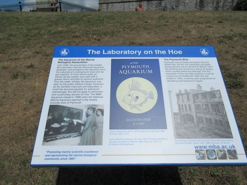 The Laboratory on the Hoe Marker image. Click for full size.