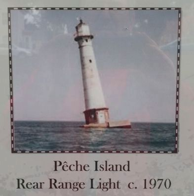 Pêche Island Rear Range Light Marker - Lower Middle Image image. Click for full size.