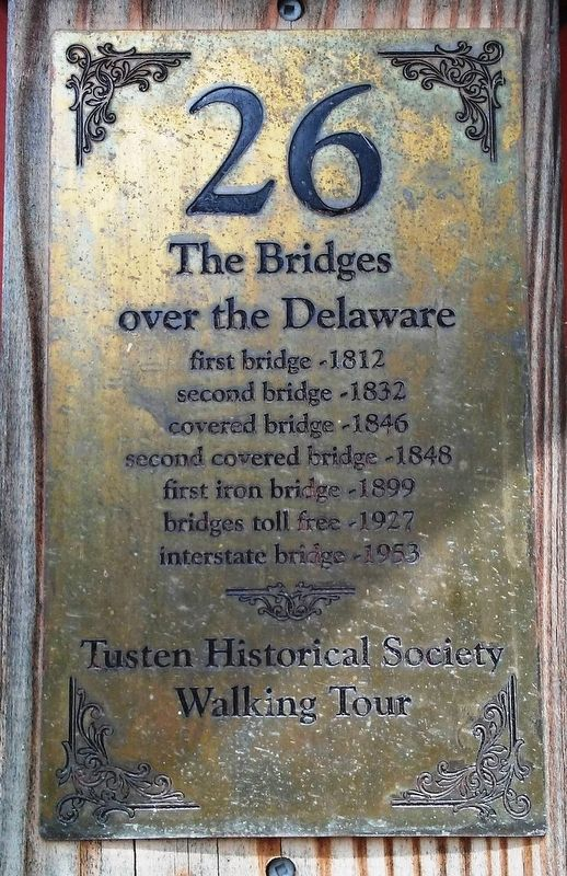 The Bridges over the Delaware Marker image. Click for full size.