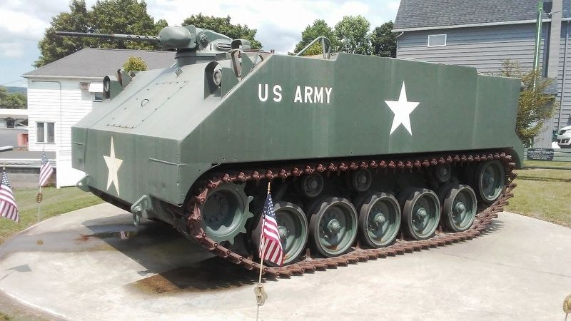 Veterans Memorial Armored Personnel Carrier image. Click for full size.