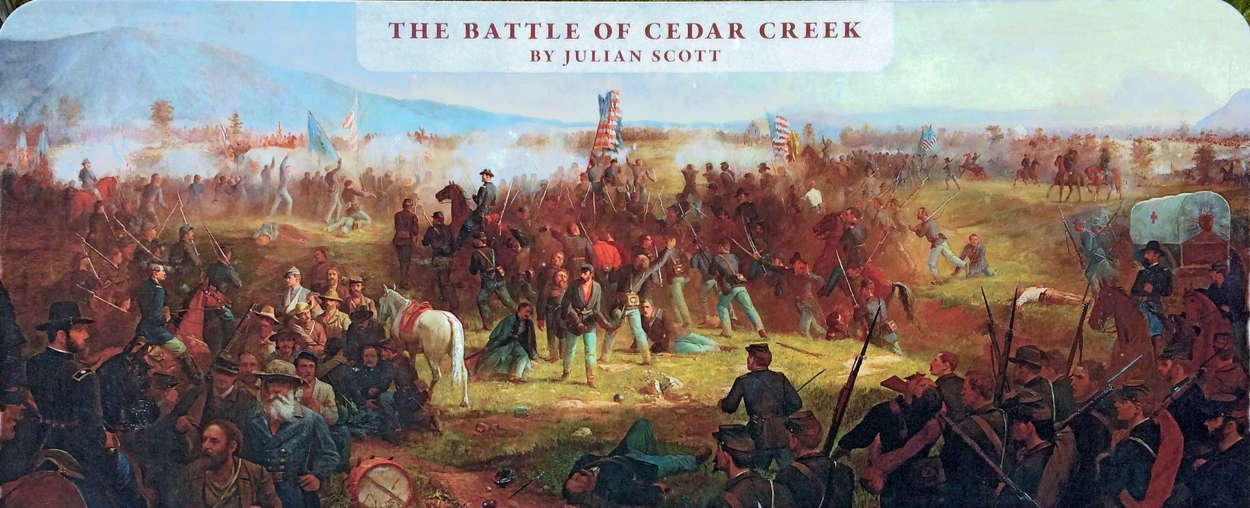 The Battle of Cedar Creek<br>by Julian Scott image. Click for full size.