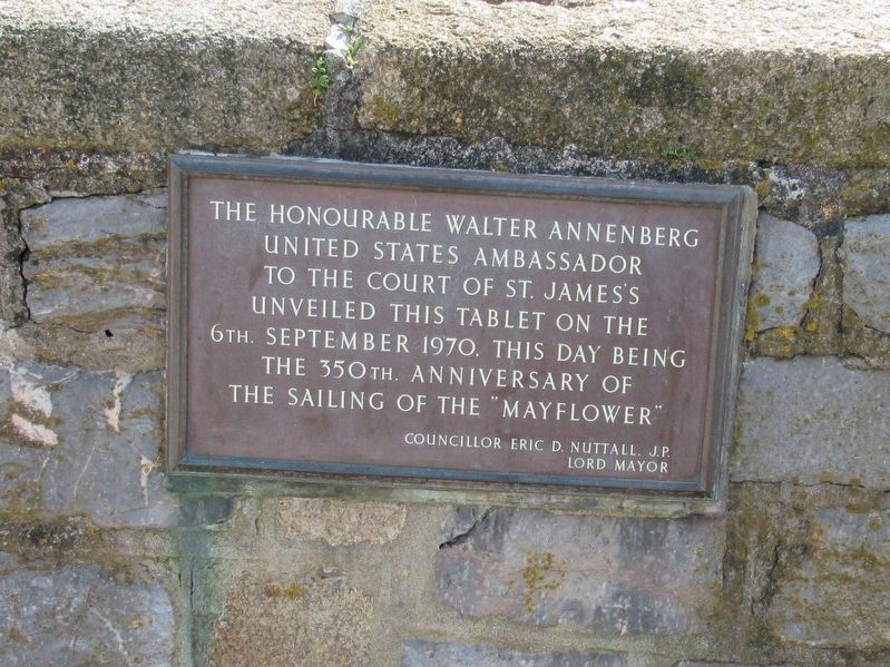 350th Anniversary of the Mayflower Marker image. Click for full size.