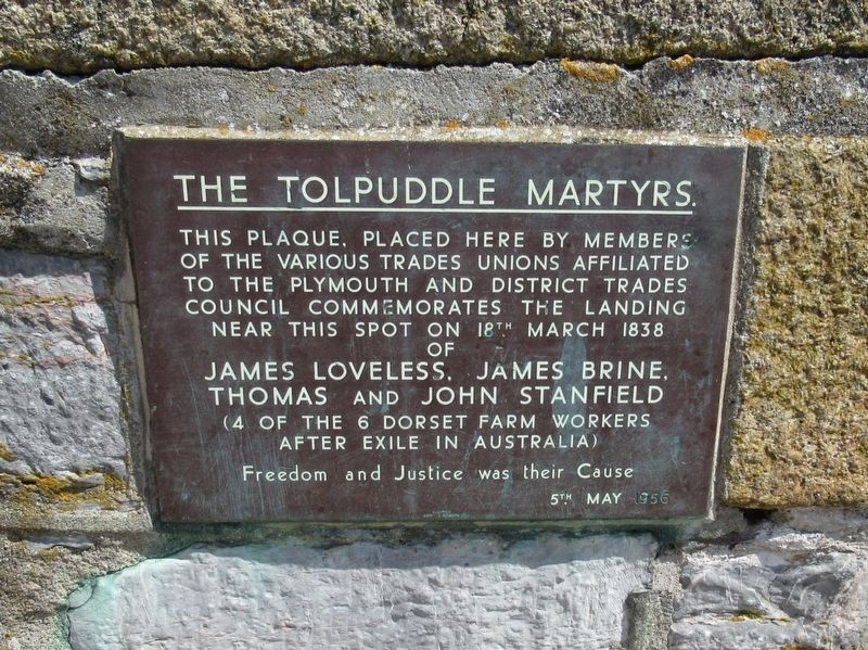 The Tolpuddle Martyrs Marker image. Click for full size.
