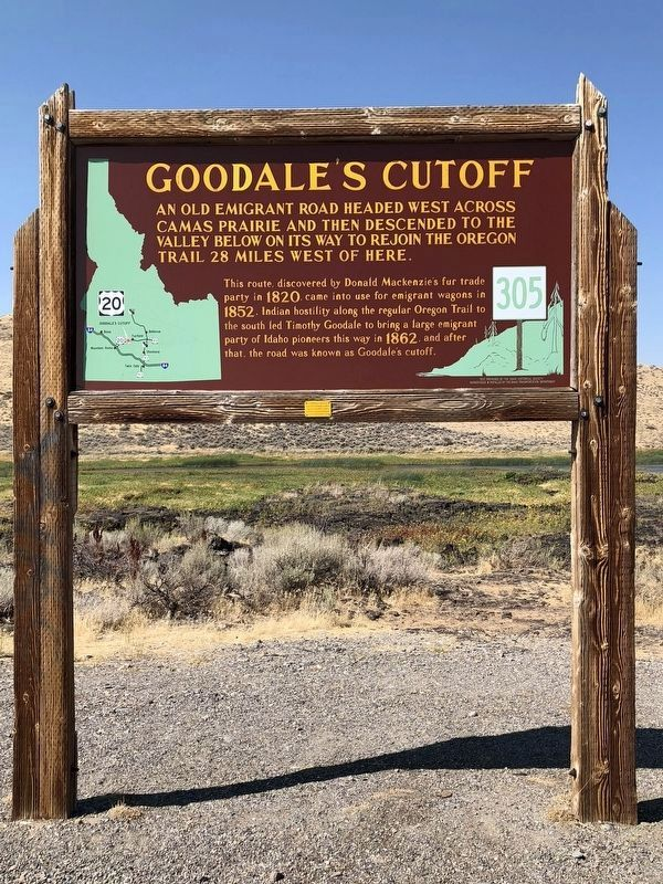 Goodale's Cutoff Marker image. Click for full size.