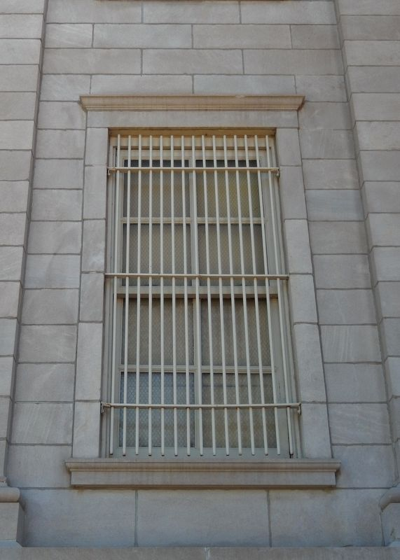 Hyde County Courthouse South Dakota (<i>window bars detail</i>) image. Click for full size.