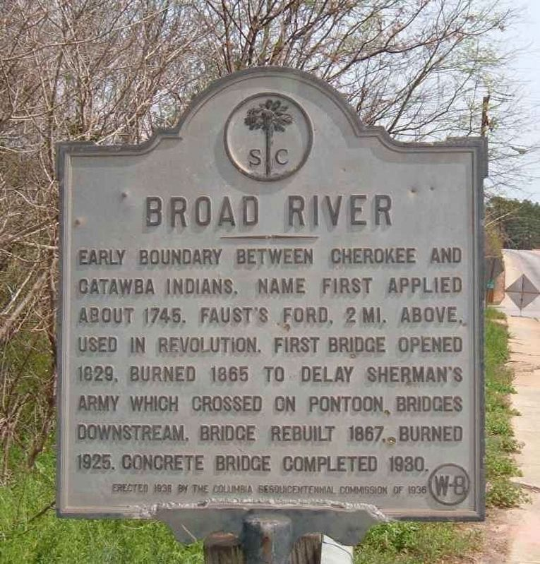 Broad River Marker image. Click for full size.