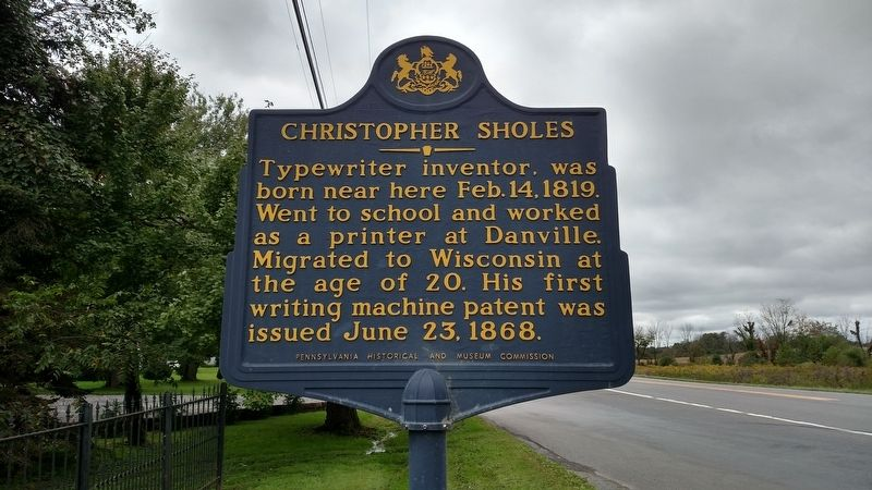 Christopher Sholes Marker image. Click for full size.
