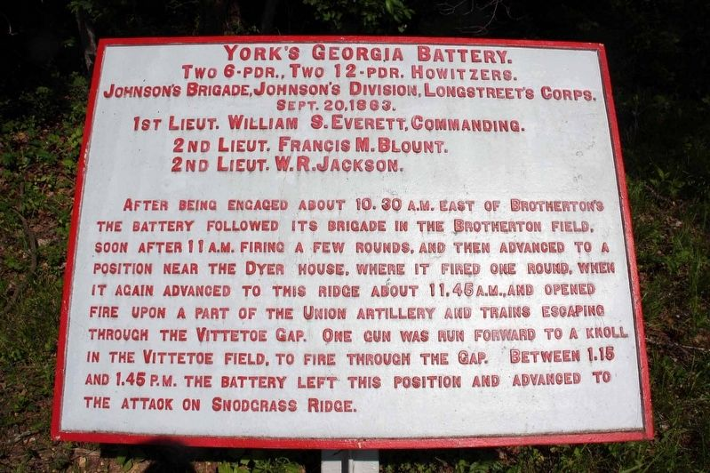 York's Georgia Battery Marker image. Click for full size.